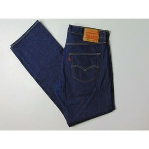 Levi's 501 34 X 32 Blue Jeans Button Fly Straight